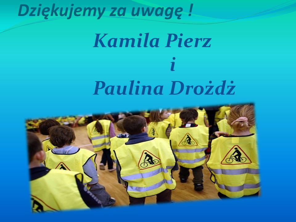 Dziękujemy za uwagę ! Kamila Pierz i Paulina Drożdż