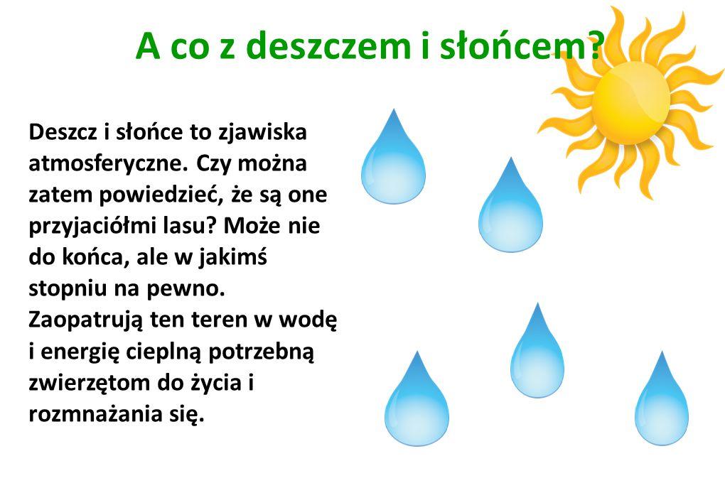 A co z deszczem i słońcem