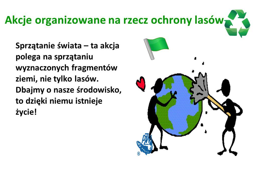 Akcje organizowane na rzecz ochrony lasów
