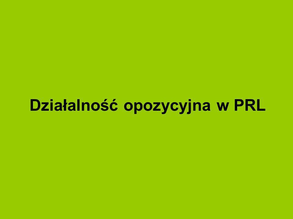 Działalność opozycyjna w PRL