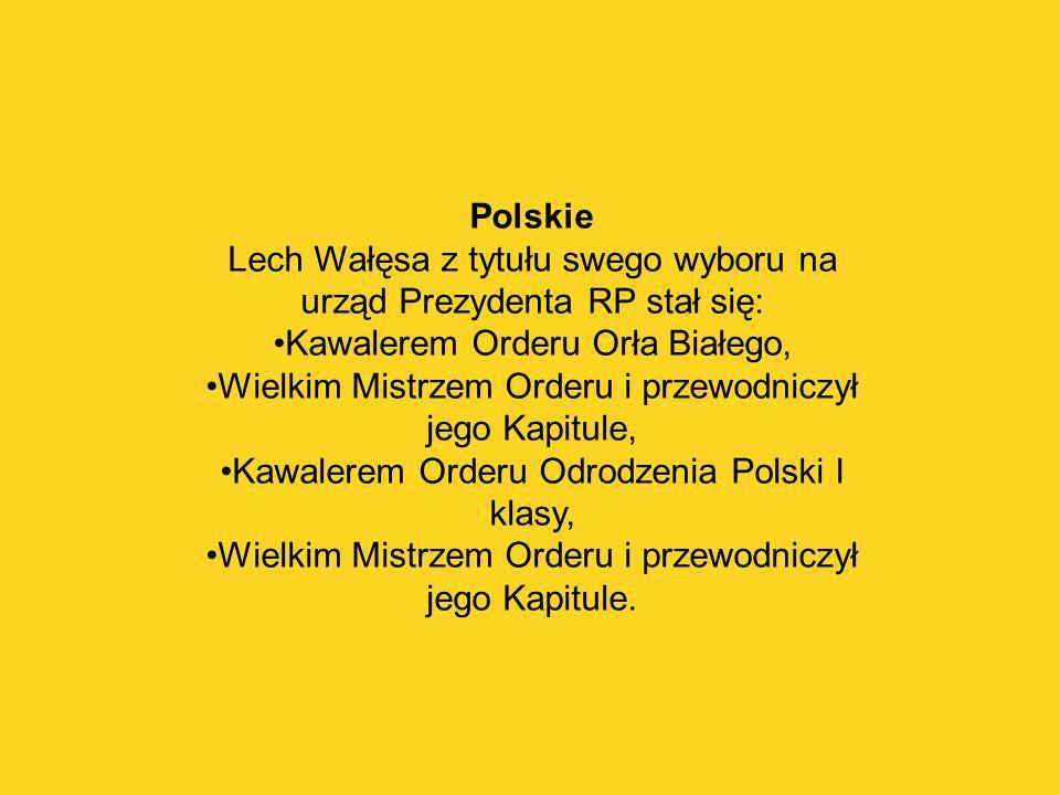 Lech Wałęsa z tytułu swego wyboru na urząd Prezydenta RP stał się: