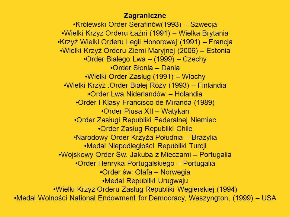 Królewski Order Serafinów(1993) – Szwecja