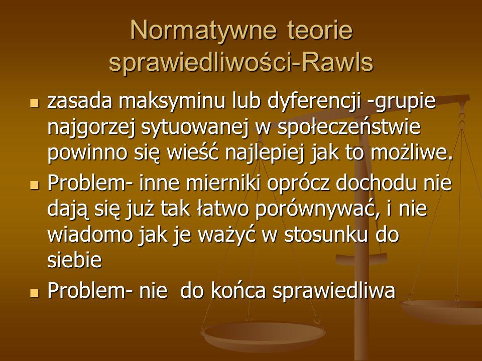 Normatywne teorie sprawiedliwości-Rawls