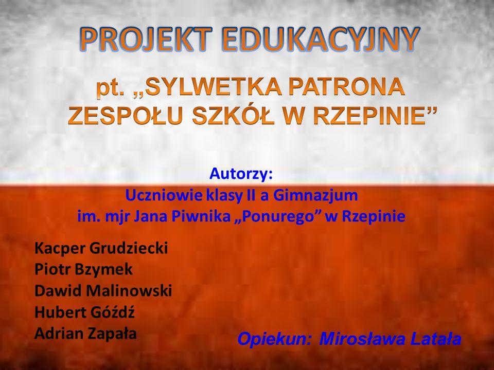 """PROJEKT EDUKACYJNY pt. """"SYLWETKA PATRONA ZESPOŁU SZKÓŁ W RZEPINIE"""