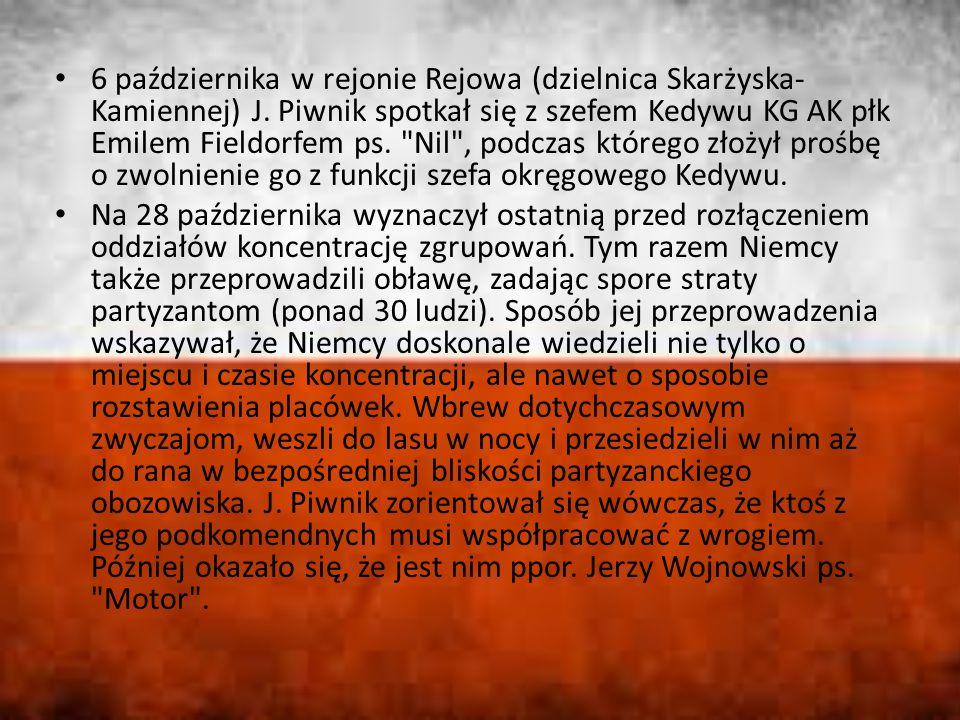 6 października w rejonie Rejowa (dzielnica Skarżyska-Kamiennej) J