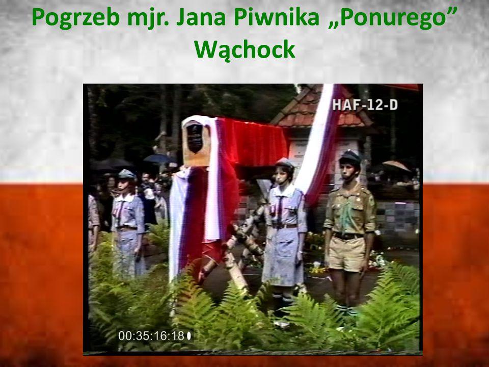 """Pogrzeb mjr. Jana Piwnika """"Ponurego Wąchock"""
