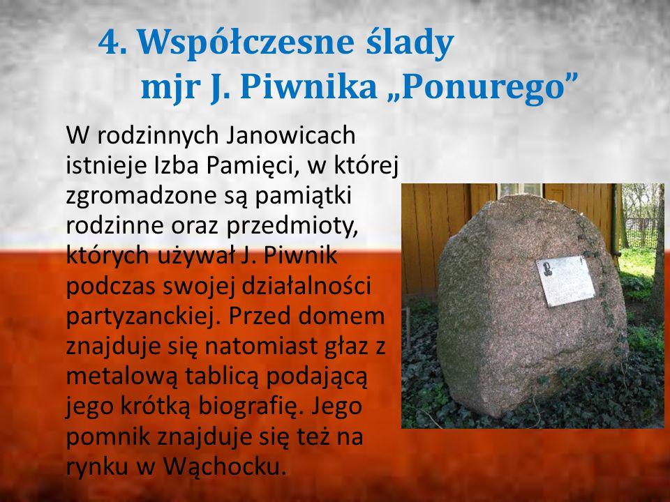 """4. Współczesne ślady mjr J. Piwnika """"Ponurego"""