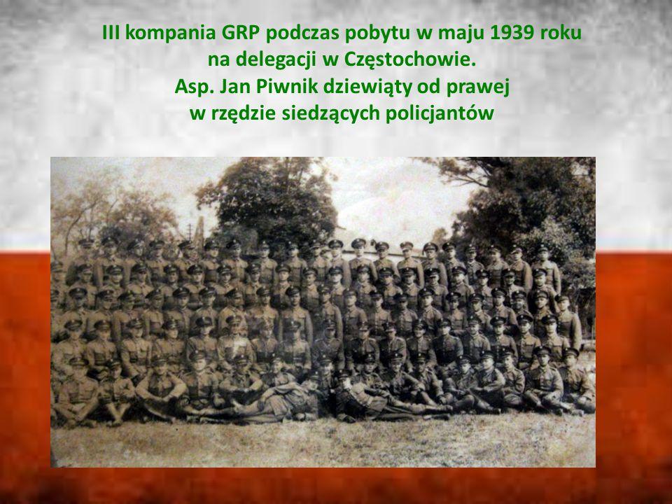 III kompania GRP podczas pobytu w maju 1939 roku na delegacji w Częstochowie.