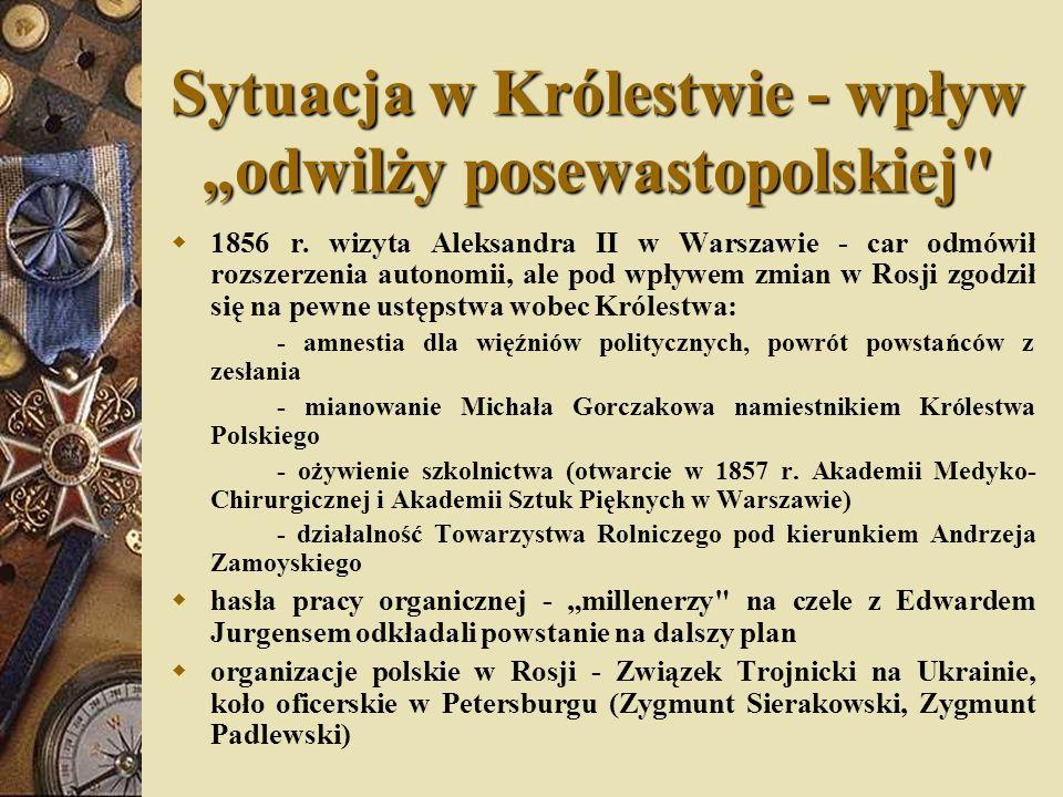 """Sytuacja w Królestwie - wpływ """"odwilży posewastopolskiej"""