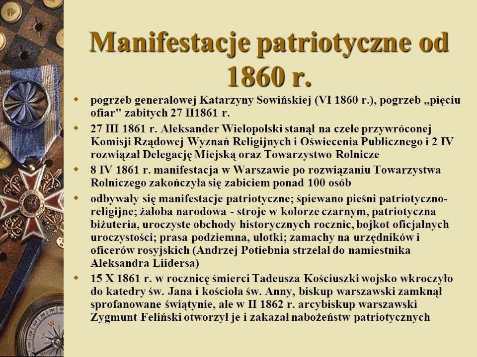 Manifestacje patriotyczne od 1860 r.