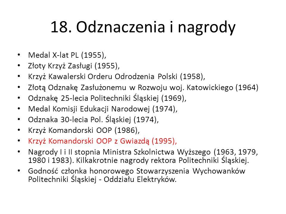 18. Odznaczenia i nagrody Medal X-lat PL (1955),