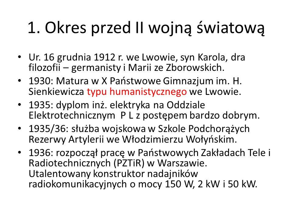 1. Okres przed II wojną światową