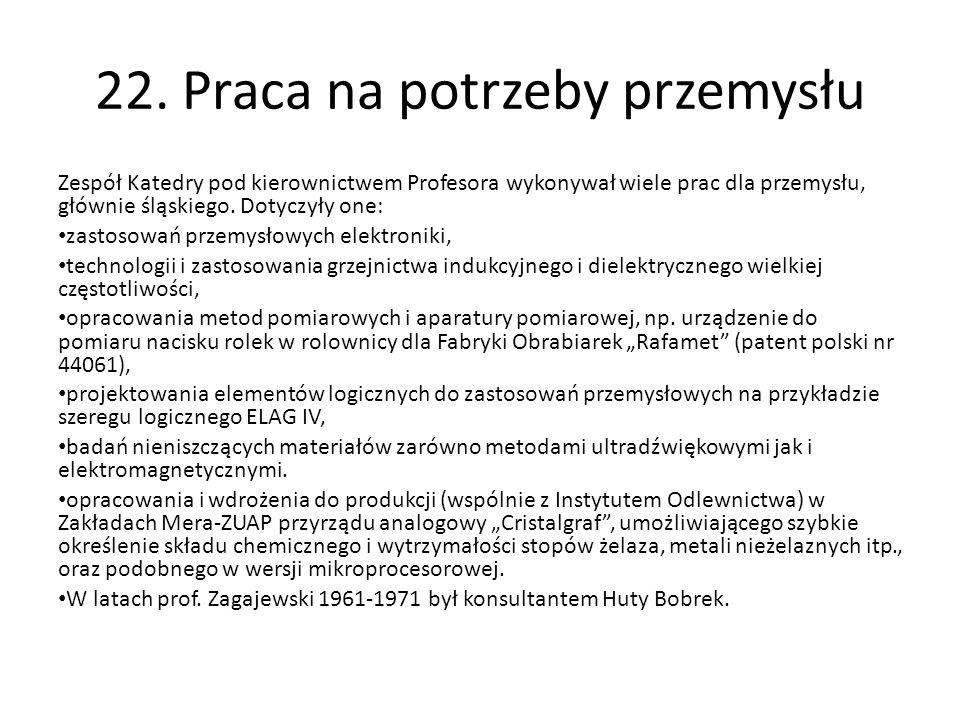 22. Praca na potrzeby przemysłu