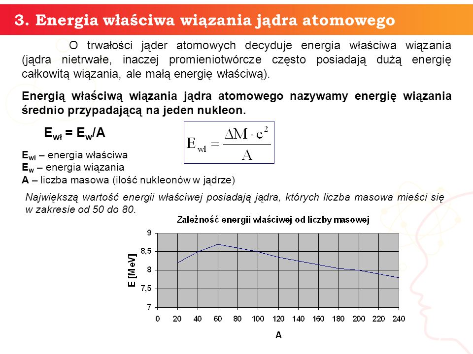 informatyka + 3. Energia właściwa wiązania jądra atomowego 7