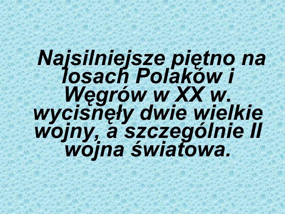 Najsilniejsze piętno na losach Polaków i Węgrów w XX w