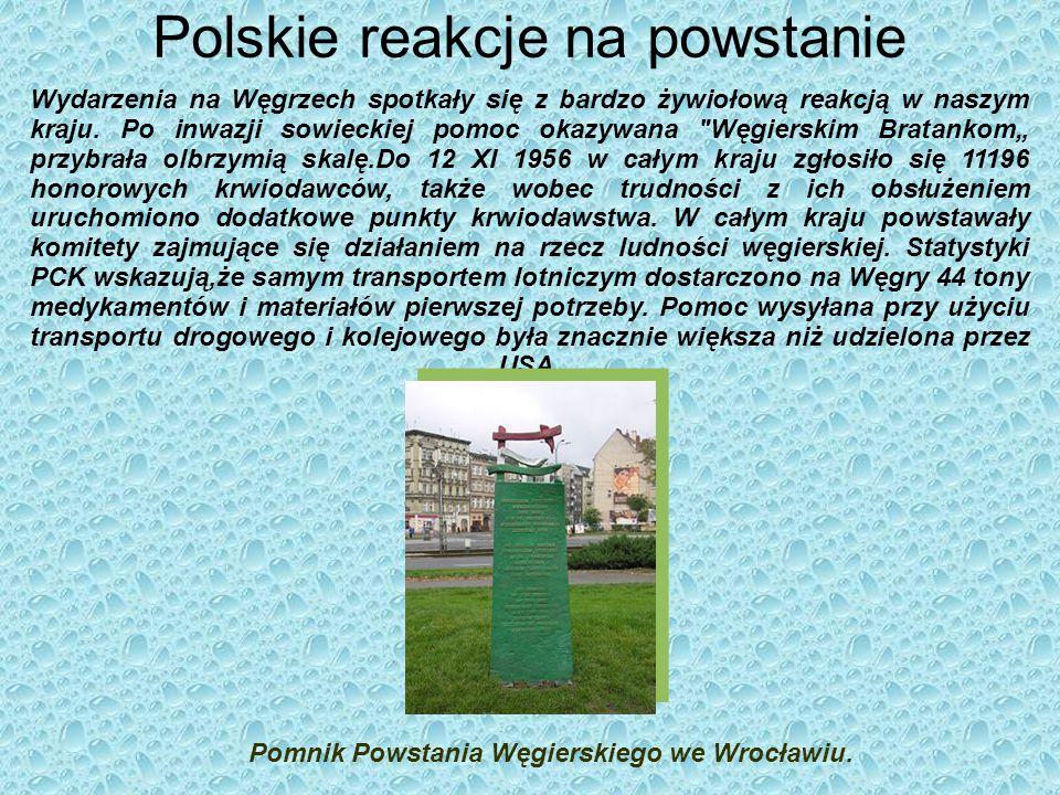 Polskie reakcje na powstanie