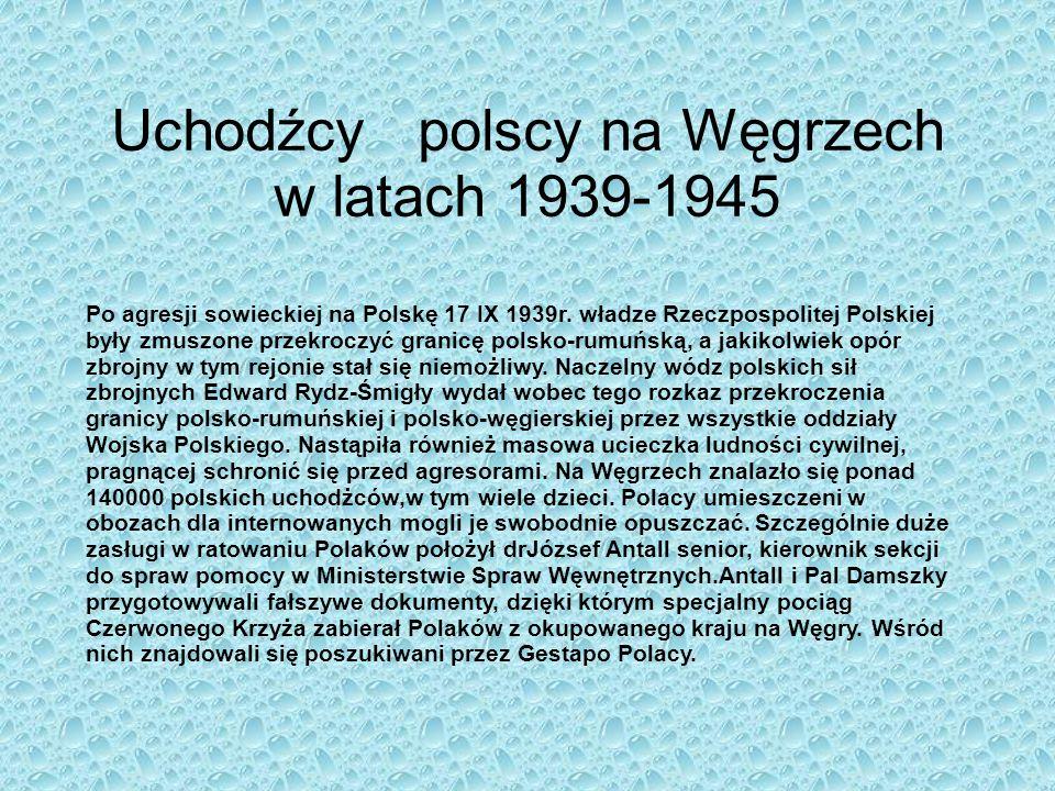 Uchodźcy polscy na Węgrzech w latach 1939-1945