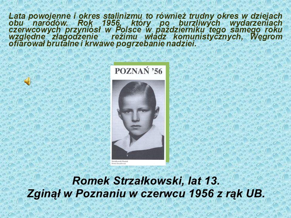 Romek Strzałkowski, lat 13. Zginął w Poznaniu w czerwcu 1956 z rąk UB.