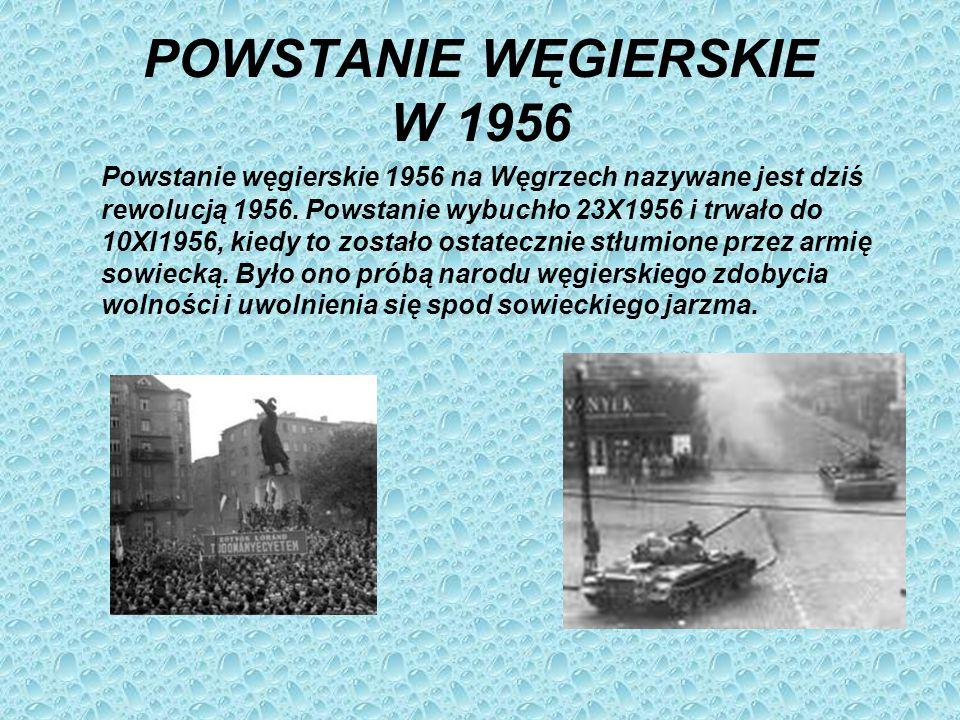 POWSTANIE WĘGIERSKIE W 1956