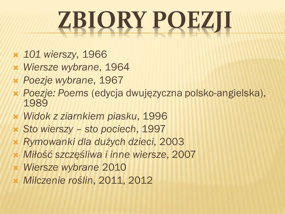 Zbiory poezji 101 wierszy, 1966 Wiersze wybrane, 1964
