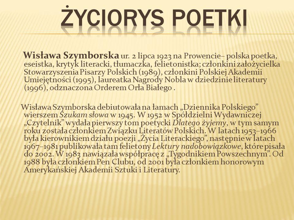 Życiorys poetki
