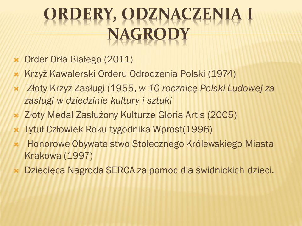 Ordery, odznaczenia i nagrody