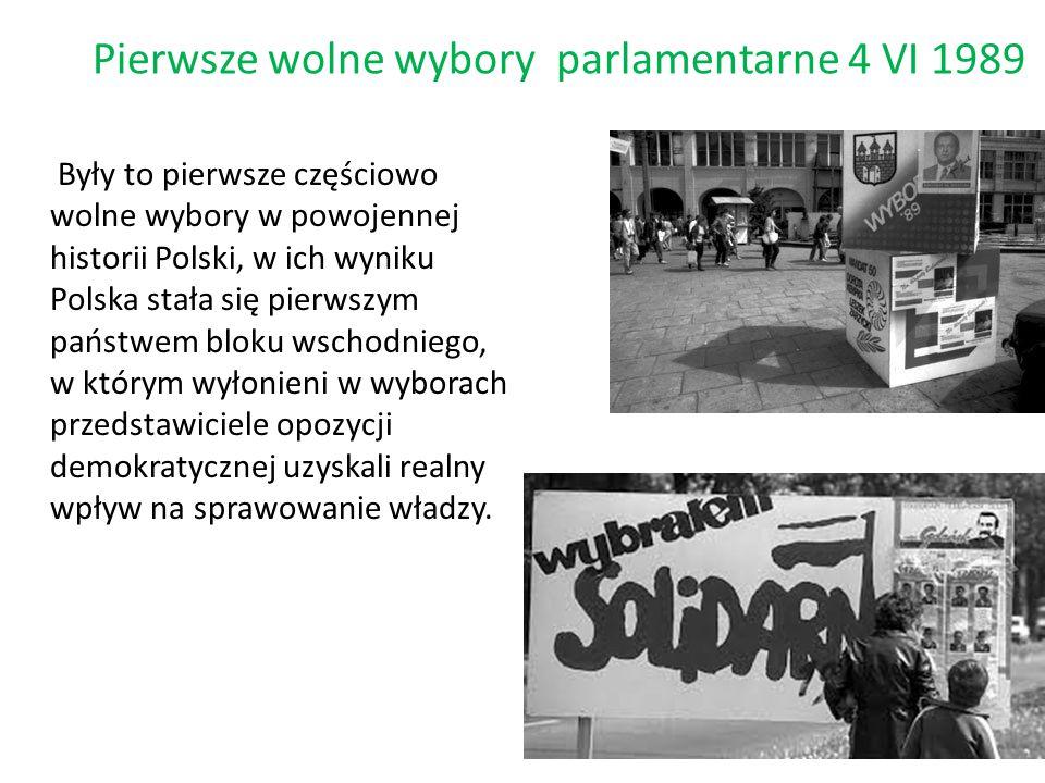Pierwsze wolne wybory parlamentarne 4 VI 1989
