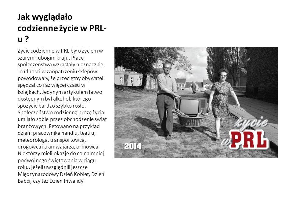 Jak wyglądało codzienne życie w PRL-u