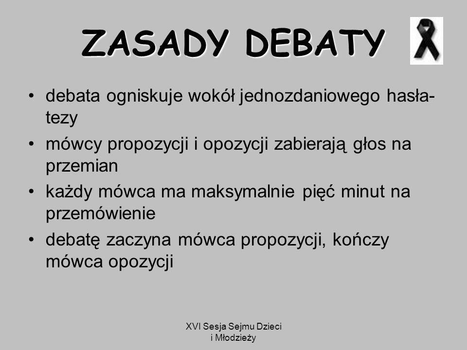 XVI Sesja Sejmu Dzieci i Młodzieży