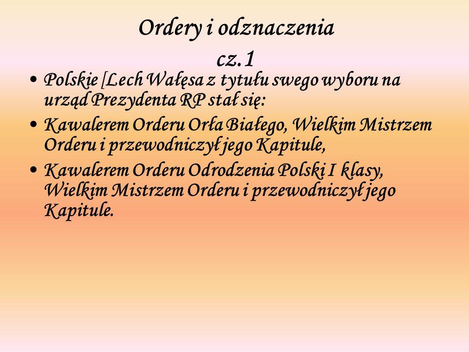 Ordery i odznaczenia cz.1