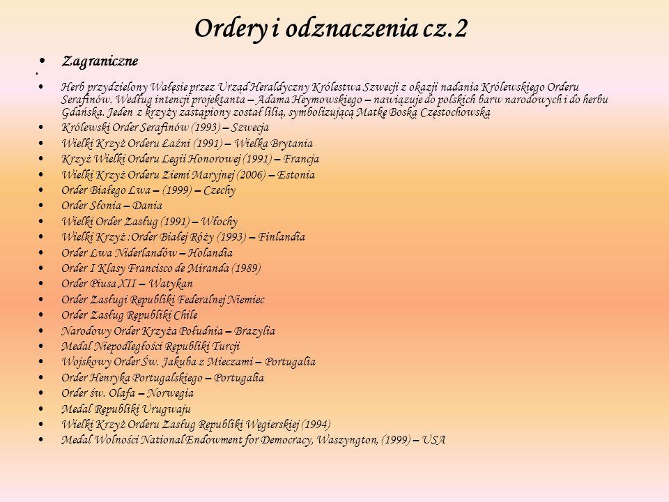 Ordery i odznaczenia cz.2