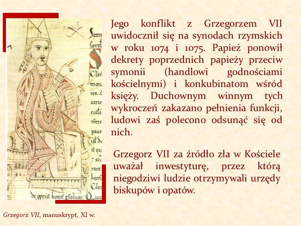 Grzegorz VII, manuskrypt, XI w.