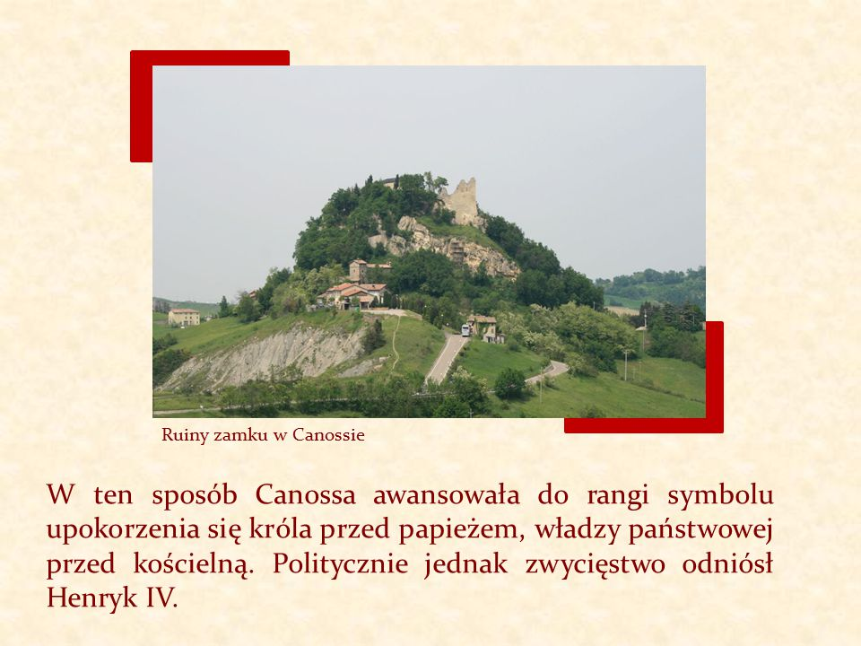 Ruiny zamku w Canossie