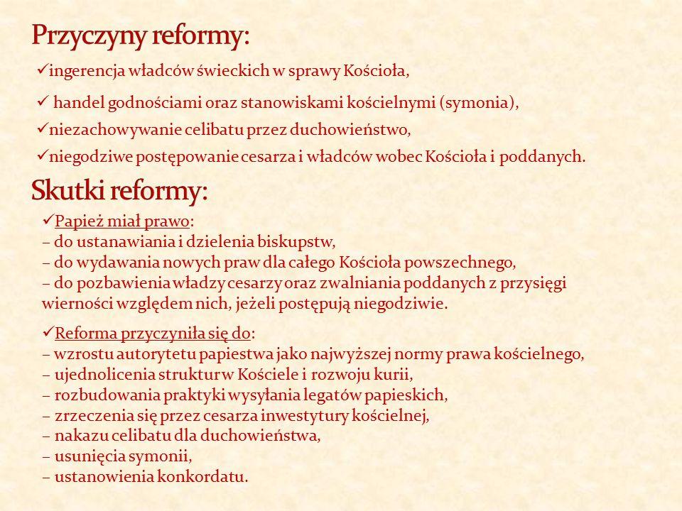 Przyczyny reformy: Skutki reformy: