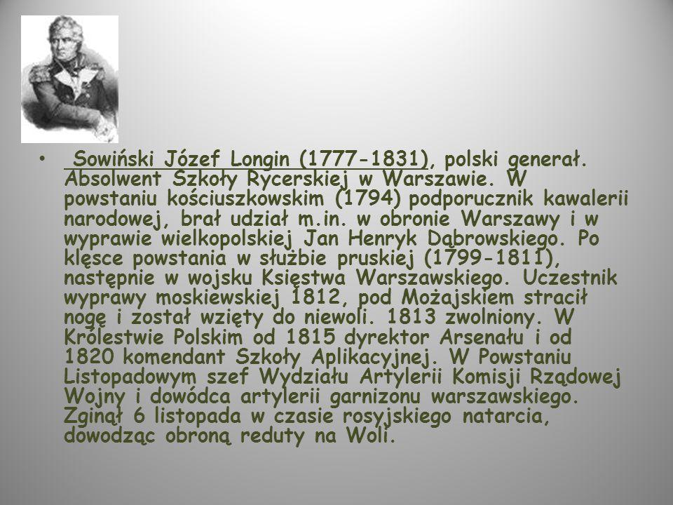 Sowiński Józef Longin (1777-1831), polski generał