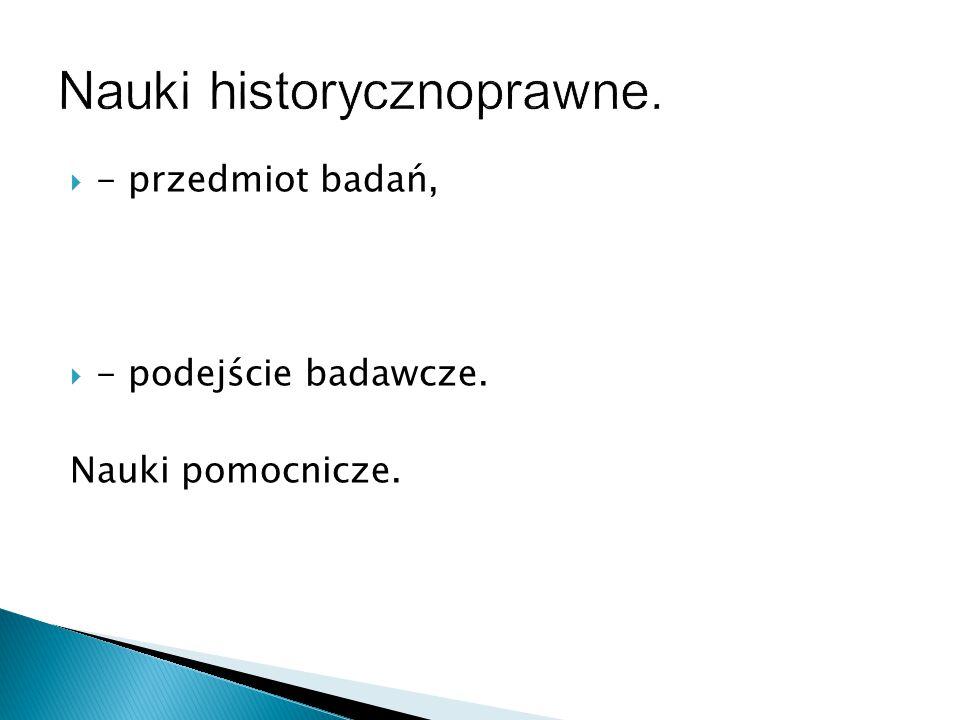 Nauki historycznoprawne.