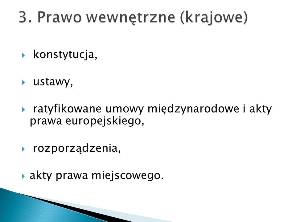 3. Prawo wewnętrzne (krajowe)