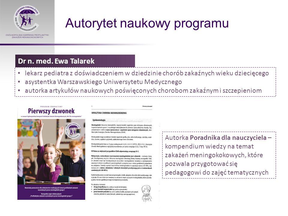 Autorytet naukowy programu