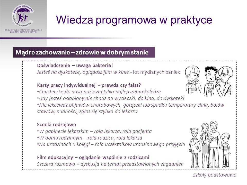 Wiedza programowa w praktyce