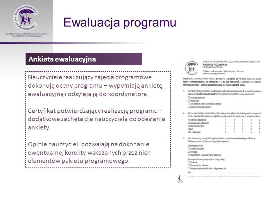 Ewaluacja programu Ankieta ewaluacyjna