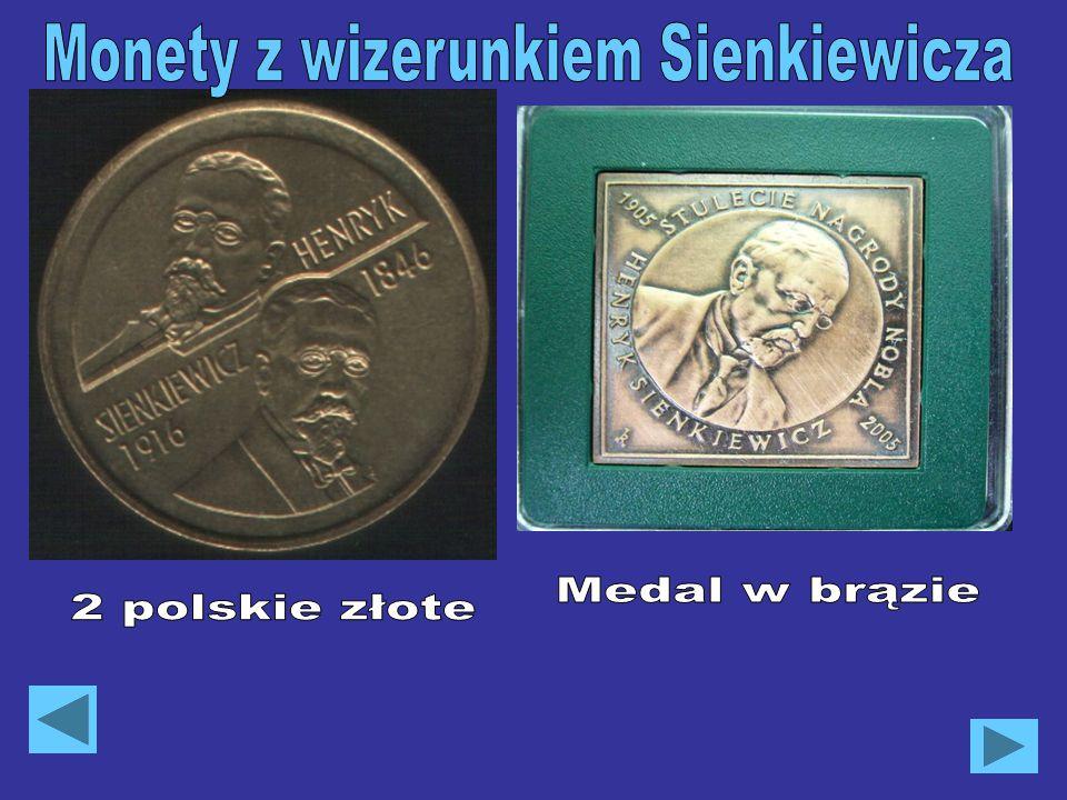Monety z wizerunkiem Sienkiewicza