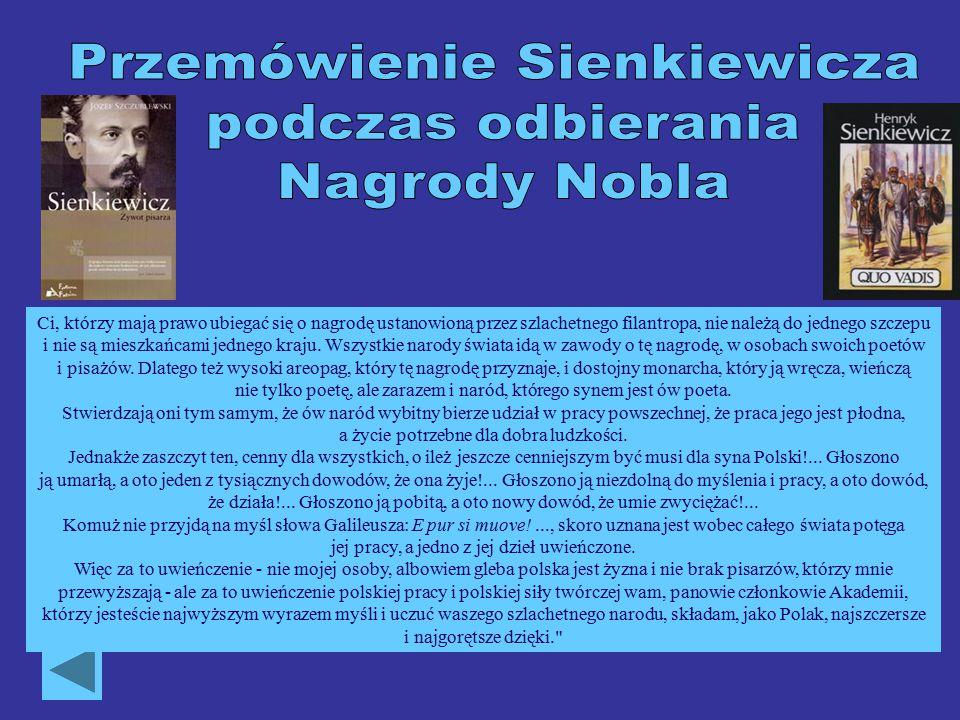 Przemówienie Sienkiewicza