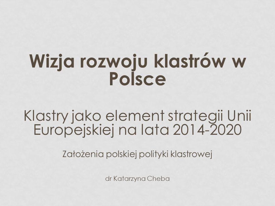 Wizja rozwoju klastrów w Polsce