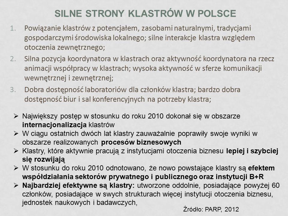 Silne strony klastrów w Polsce