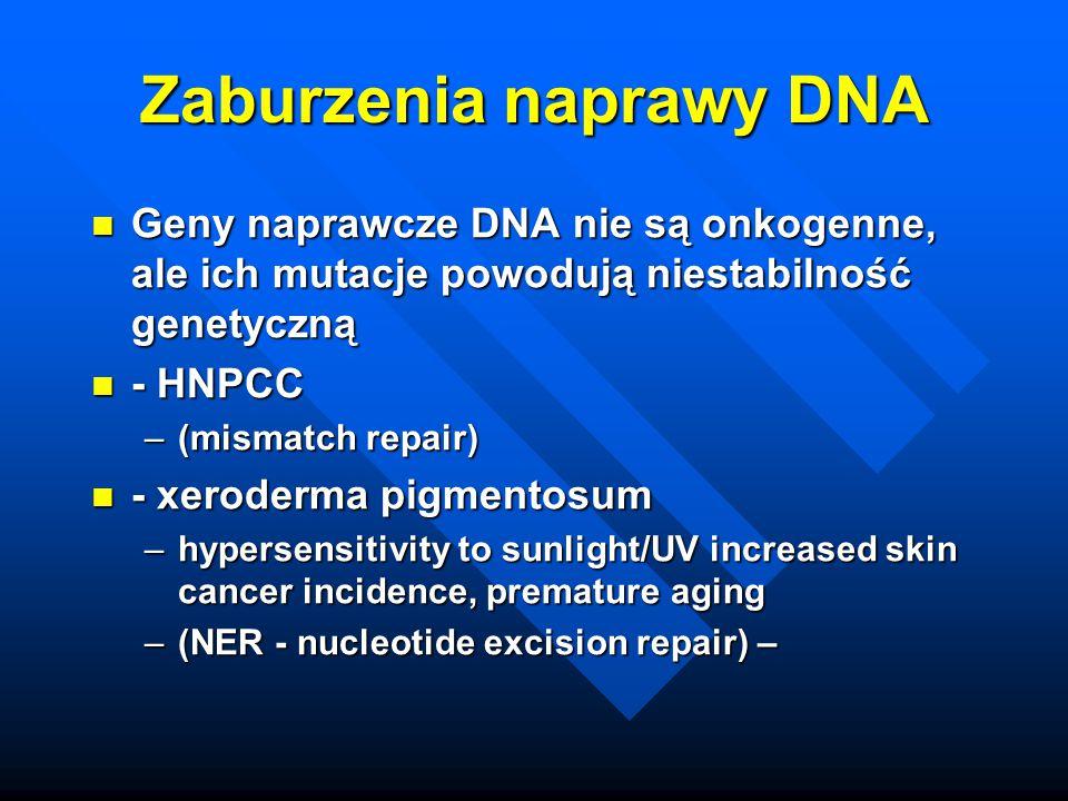 Zaburzenia naprawy DNA
