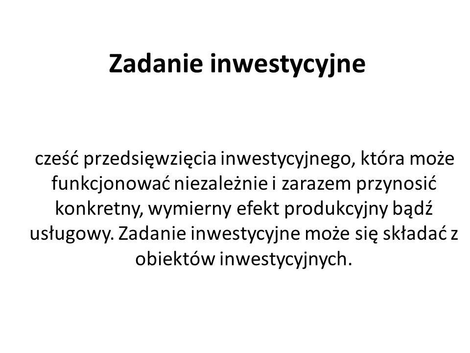 Zadanie inwestycyjne