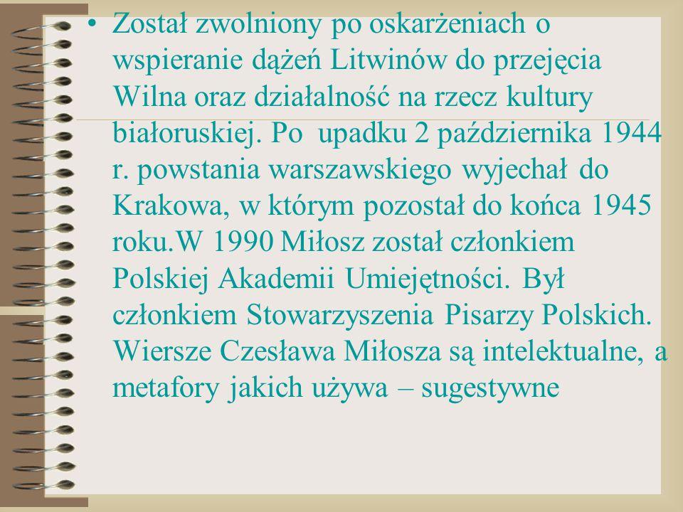 Został zwolniony po oskarżeniach o wspieranie dążeń Litwinów do przejęcia Wilna oraz działalność na rzecz kultury białoruskiej.
