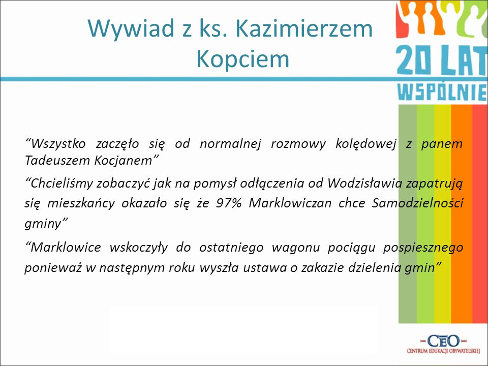 Wywiad z ks. Kazimierzem Kopciem