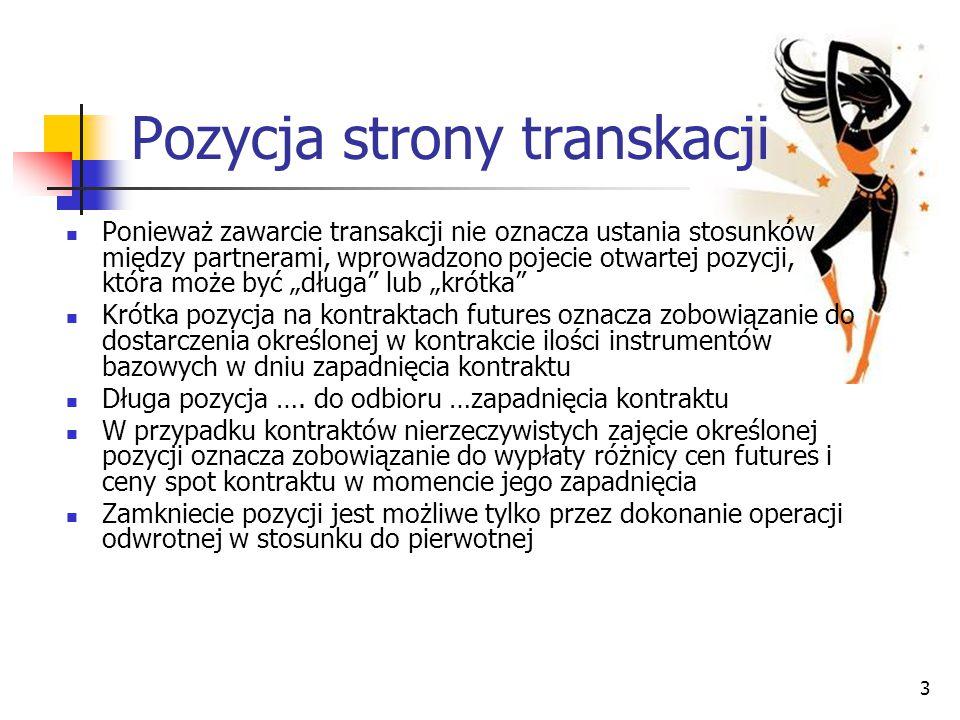 Pozycja strony transkacji