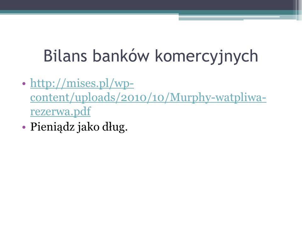 Bilans banków komercyjnych